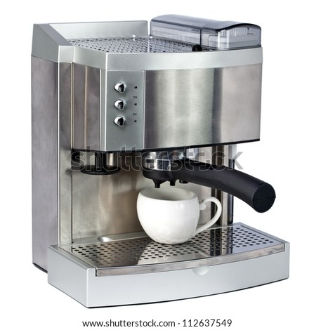 Coffee Machine and cup - stock photo