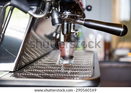 Coffee machines in coffee shops - stock photo