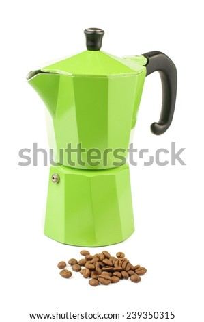 Coffee maker isolated on the bright background - stock photo