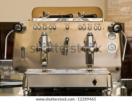 Coffee maker with metal furnish