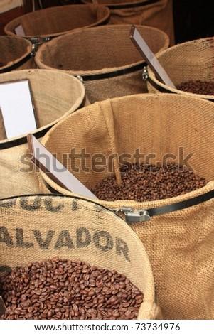 coffee market - stock photo