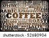 Coffee Menu Choices as a Creative Background - stock vector
