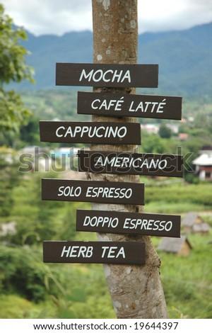 Coffee Menu Tab - stock photo