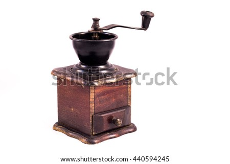 Coffee mill, coffee grinder.