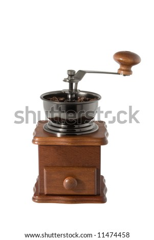 coffee mill isolated over white