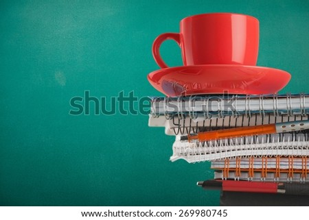 Coffee. Morning Workload - stock photo