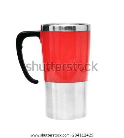 Coffee Mug isolated on white background - stock photo