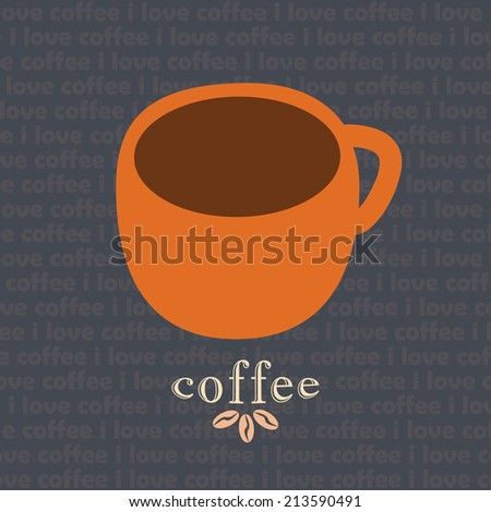 Coffee mug vector design template - stock photo