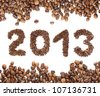 Coffee New Year 2013 - stock photo