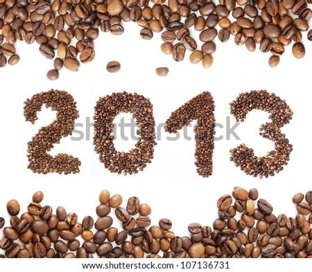 Coffee New Year 2013 - stock photo