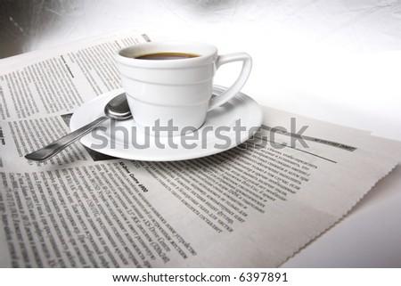 Coffee, news - stock photo