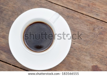 Coffee on brown wooden table