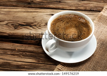 coffee on desk  - stock photo