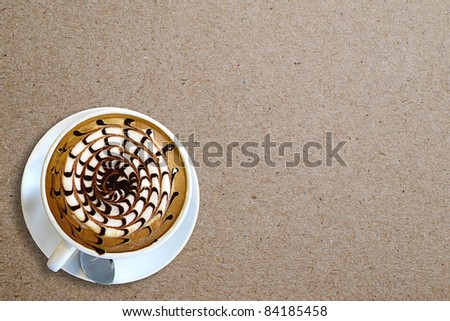 Coffee on paper background