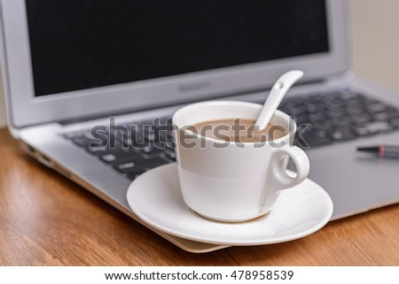 Coffee on the laptop