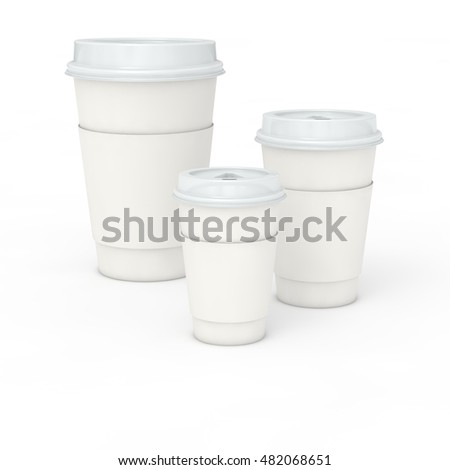 Coffee or tea cup, 3d illustration