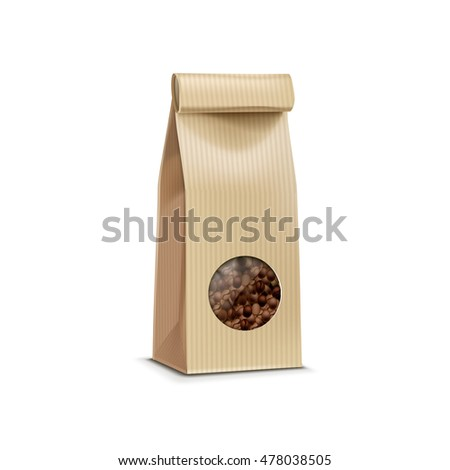 Coffee Packaging Package Bag Isolated on White Background