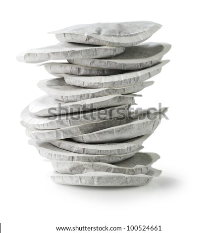 Coffee pads pile - stock photo