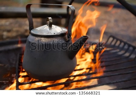 Cooking Over Fire Stock Images Royalty Free Images