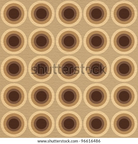 Coffee pattern with circles