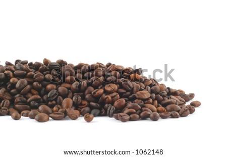 coffee pile on white - stock photo