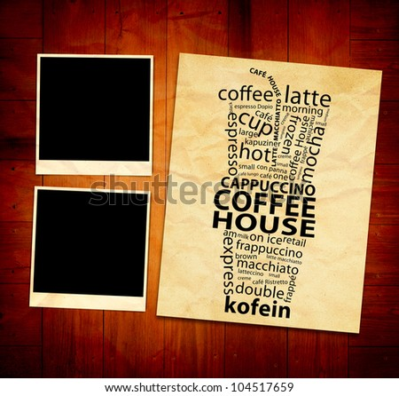 Coffee Poster - stock photo