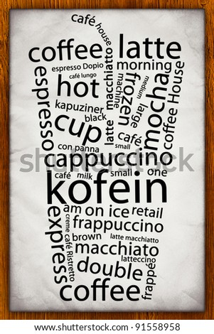 Coffee Poster - stock photo