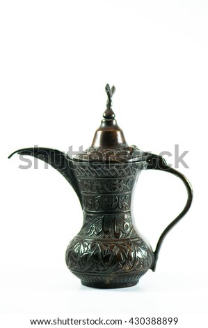 Coffee pot Isolated turkish Coffee pot on white background