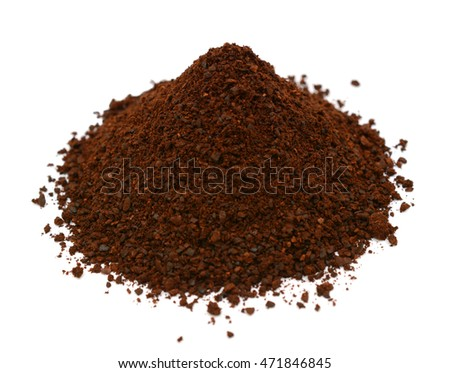 coffee powder isolated on white background