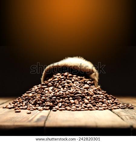 coffee sack  - stock photo