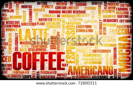 Coffee Selection as a Creative Concept Background - stock photo
