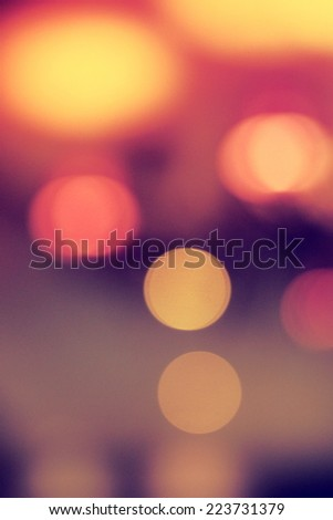 coffee shop bokeh in vintage color tone - stock photo