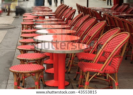 Coffee shop in Champs Elysees, Paris - stock photo