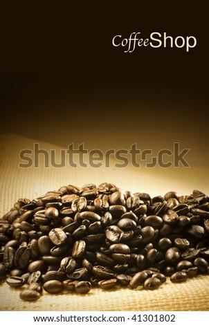 coffee shop menu or flyer design - stock photo