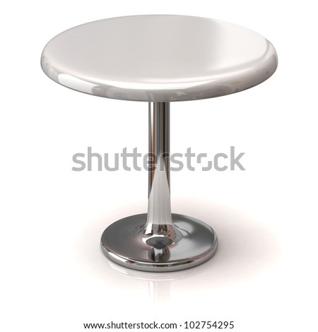 Coffee shop table isolated on white background - stock photo