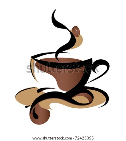 Coffee sign (also available vector version of this image with coffee sign) - stock photo