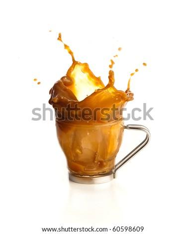 Coffee splashing. - stock photo