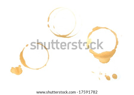 Coffee spots on white paper