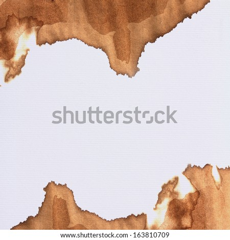 Coffee stain on paper texture for background