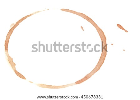 Coffee stain over white background - stock photo