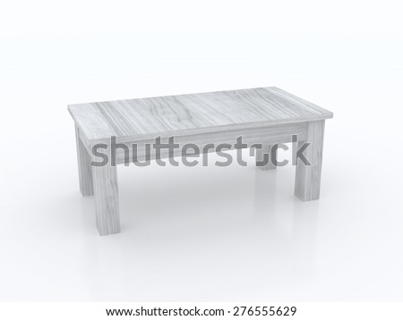 coffee table isolated on white background - stock photo