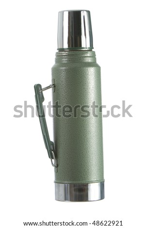 Coffee thermos bottle isolasted on white background