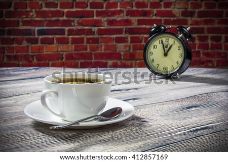 coffee time in the morning - stock photo