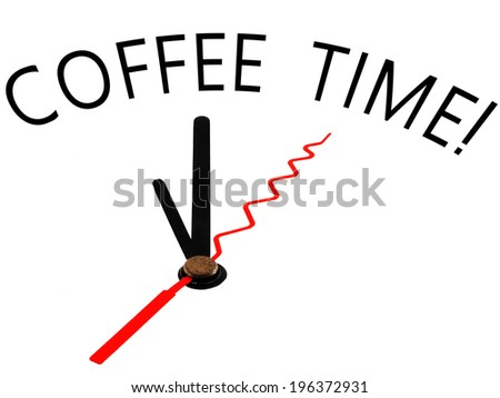 coffee time with clock concept
