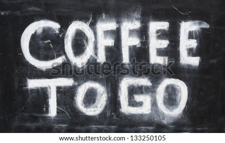 coffee to go. - stock photo