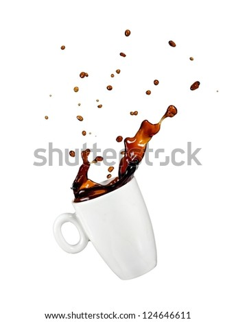 Coffee up with drops - stock photo