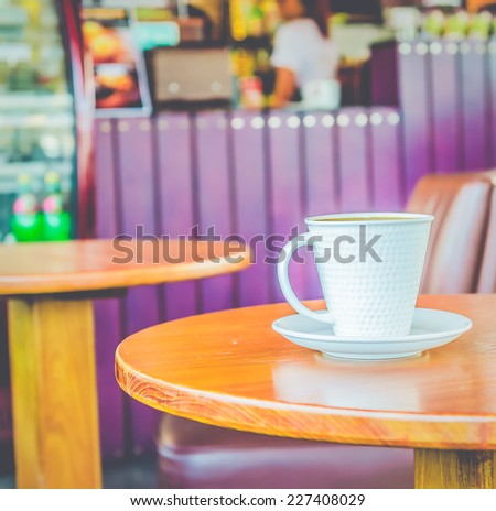 Coffee  - vintage effect style pictures - stock photo