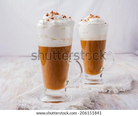 coffee whipped cream - stock photo