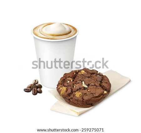 coffee with a cookie