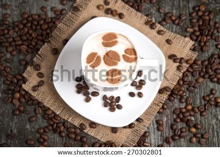 coffee with cinnamon - stock photo